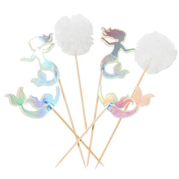 Mermaid Cake Topper or Food Picks - Must Love Party