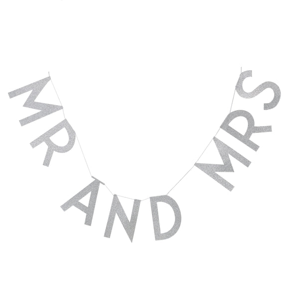 Mr and Mrs Silver Bunting - Must Love Party