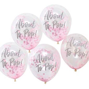 Confetti Balloons - About To Pop Pink (5 pack) - Must Love Party