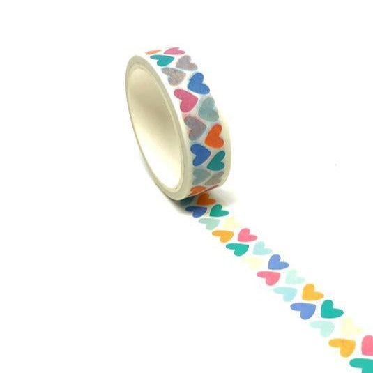 Washi Tape - Pastel Hearts