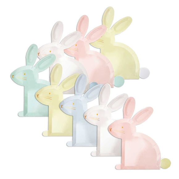 Pastel Bunny Plates - Must Love Party