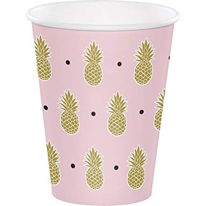 Gold Pineapple Cups (8) - Must Love Party