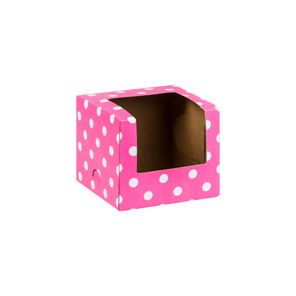 Pink Dot Cupcake Boxes - Must Love Party