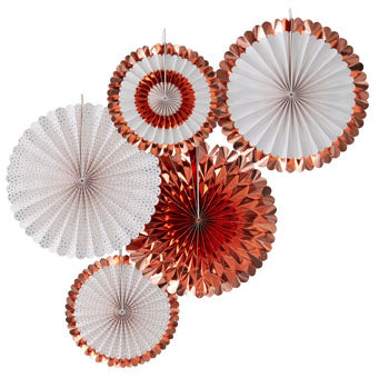 Rose Gold Fan Decorations - Must Love Party