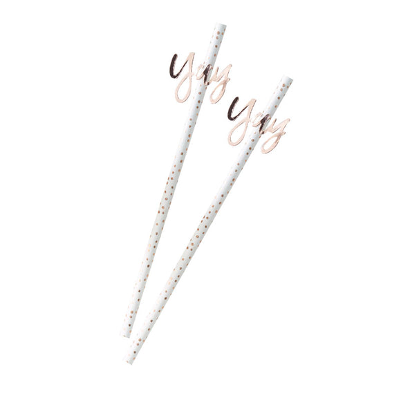 Rose Gold Yay Straws - Must Love Party