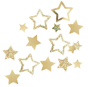 Confetti - Star Shaped - Gold - Must Love Party