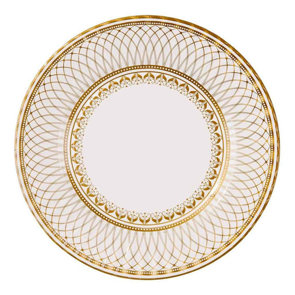 Party Porcelain Gold Large Paper Plate