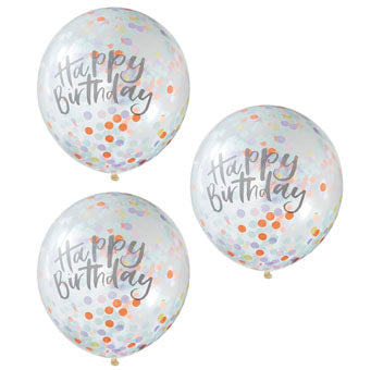 Confetti Balloons - Happy Birthday - Must Love Party