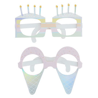 Iridescent Pastel Party Fun Glasses - Must Love Party