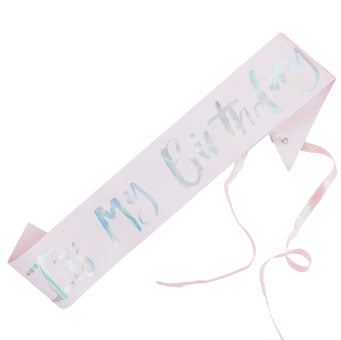 It's My Birthday Sash - Must Love Party
