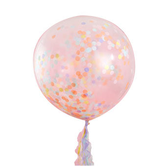 Giant Pastel Confetti Balloons - Must Love Party