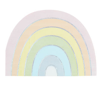 Rainbow Shaped Iridescent Foiled Paper Napkins - Must Love Party