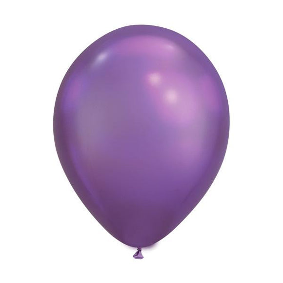 Purple Chrome Balloons - Must Love Party