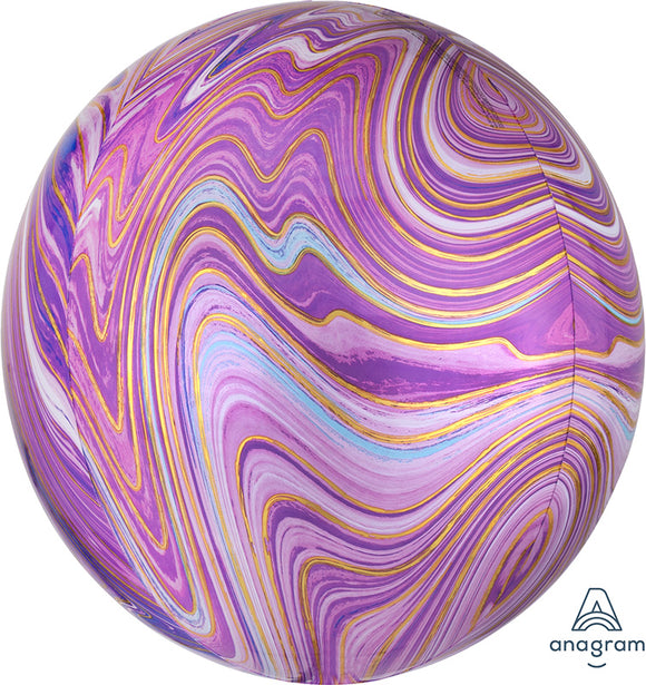 Purple Marble Orb Balloon - Must Love Party