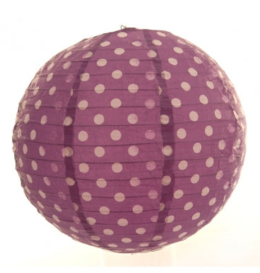 Purple with white dot Lantern - Must Love Party