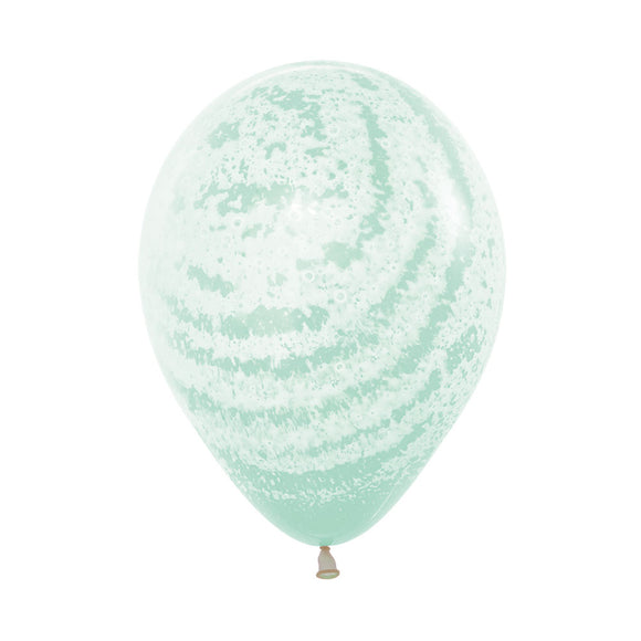 Pastel Matte Green Graffiti Frosty Balloons - Must Love Party