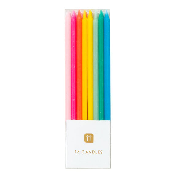 Rainbow Brights Candles - Must Love Party