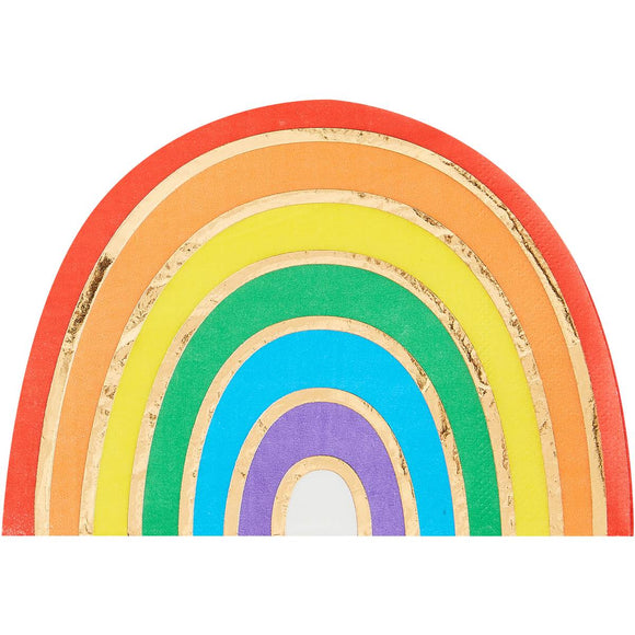 Rainbow Shaped Gold Foiled Rainbow Napkins