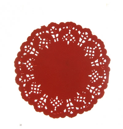 Mini Red Lace Doilies - Must Love Party