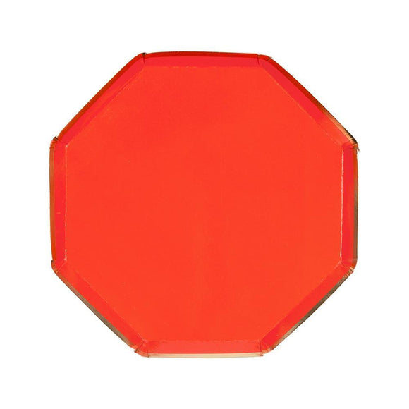 Red Octagonal Side Plates - Must Love Party