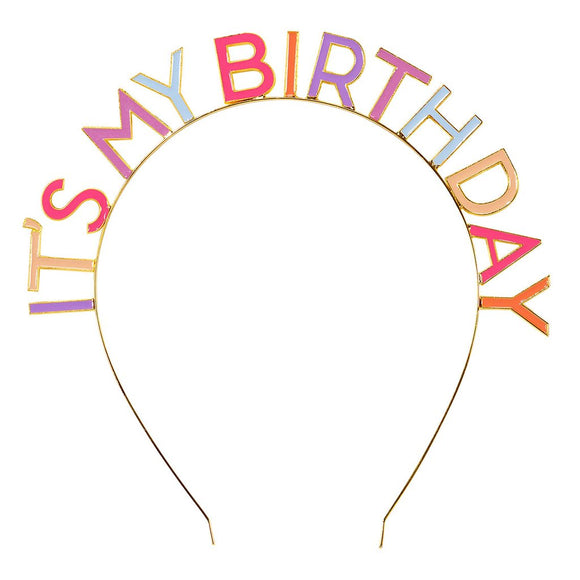 Enamel It's My Birthday Alloy Headband