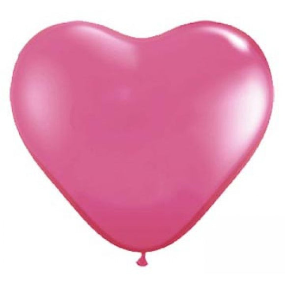 Rose Latex Heart Balloon - Must Love Party