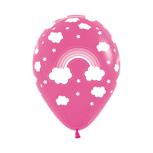 Hot Pink Rainbow Balloons (3) - Must Love Party