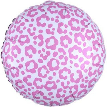 Pink Cheetah Foil Balloon