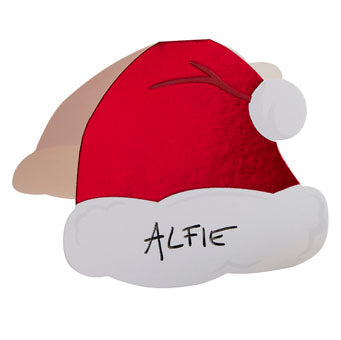 Place Cards - Santa Hat - Red Foil - Must Love Party