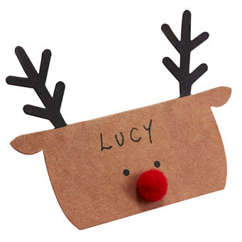Place Cards - Kraft Reindeer Shaped - Must Love Party