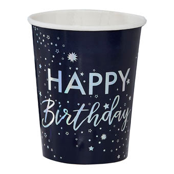 Happy Birthday Foiled Cups - Must Love Party