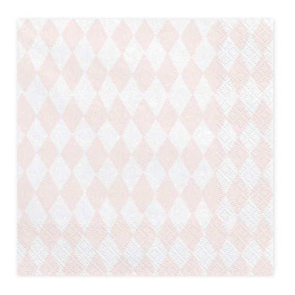 Pink & White Napkins - Must Love Party