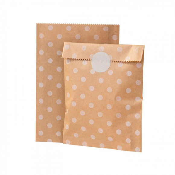 Kraft Paper Bag - White Dots - Must Love Party