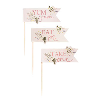 Floral Food Topper - Must Love Party