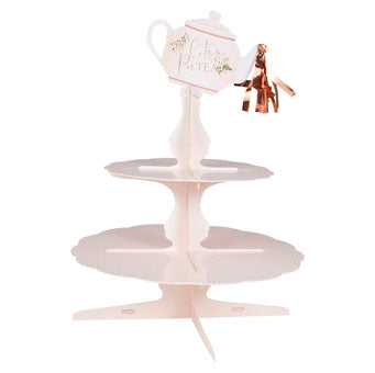 Floral Tea Pot Paper Cake Stand
