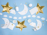 Mini Sleepy Eyes Gold Foil Cloud Garland-2m (12Pc) - Must Love Party