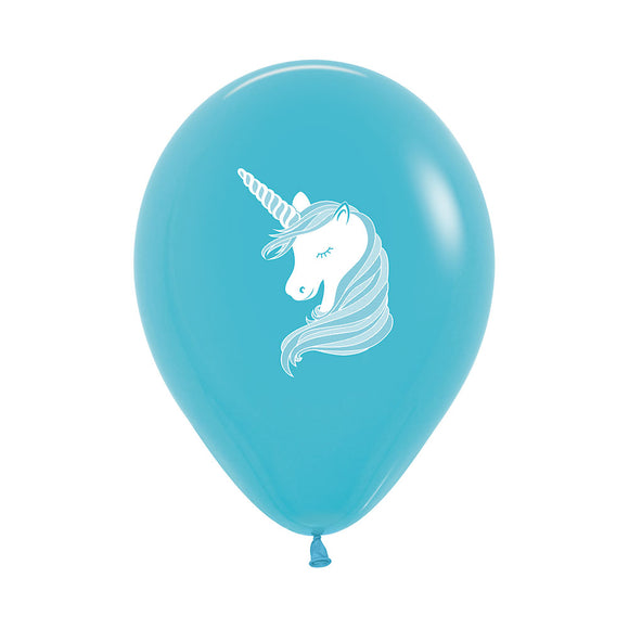 Caribbean Blue Unicorn Balloons (3) - Must Love Party