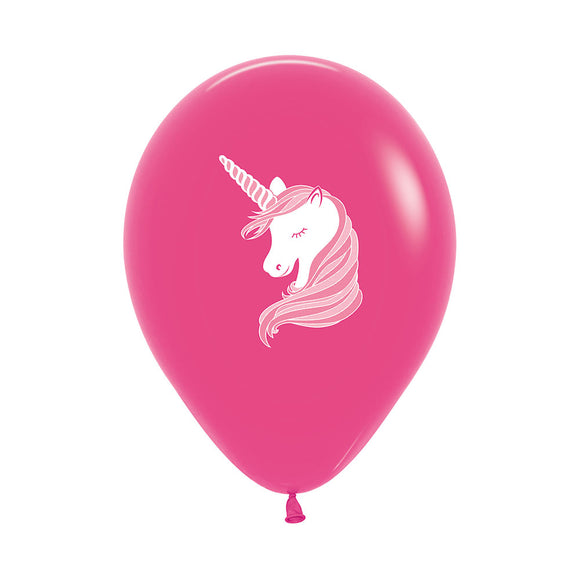 Hot Pink Unicorn Balloons (3)