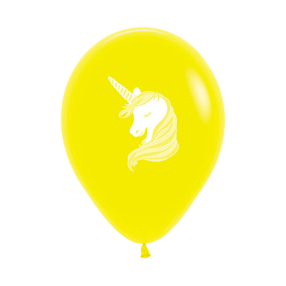 Yellow Unicorn Balloons (3)