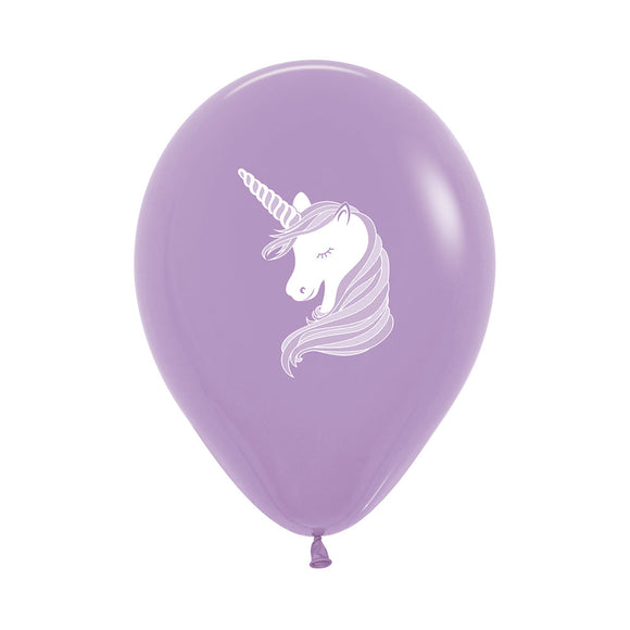 Lilac Unicorn Balloons (3) - Must Love Party
