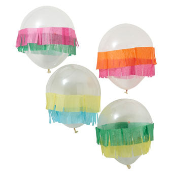 Tissue Fringe Mexican Party Balloons - Must Love Party
