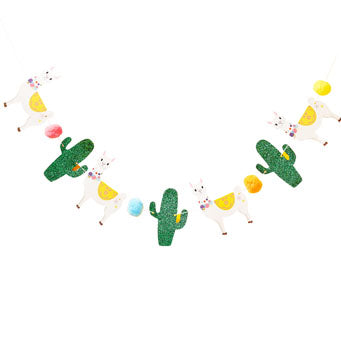 Llama, Cactus & Pom Pom Bunting - Must Love Party