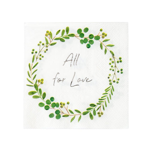Botanical All For Love Napkin - Must Love Party