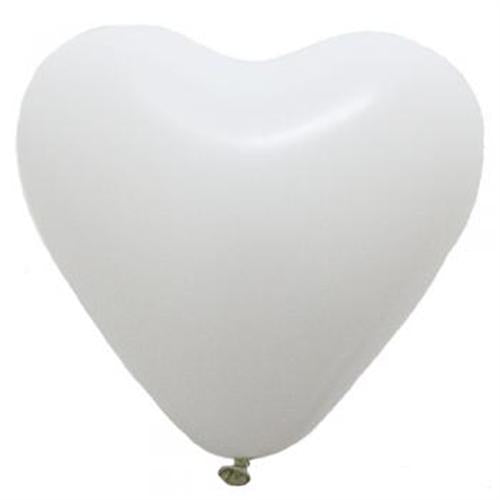 white Latex Heart Balloons (3) - Must Love Party