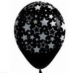 Balloons - Bold Stars and Metal ink on Black (3) - Must Love Party