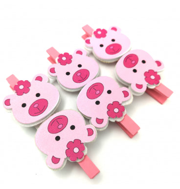 Pretty Pink Bear Pegs