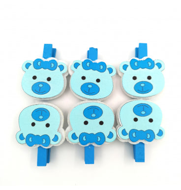 Pretty Blue Bear Pegs