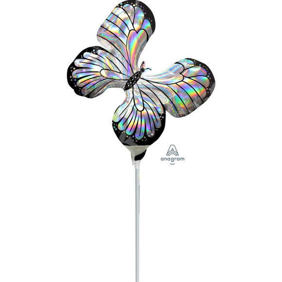 Mini Holographic Iridescent Butterfly Foil Balloon