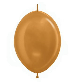 Old Gold Link O Loon Balloons - Must Love Party