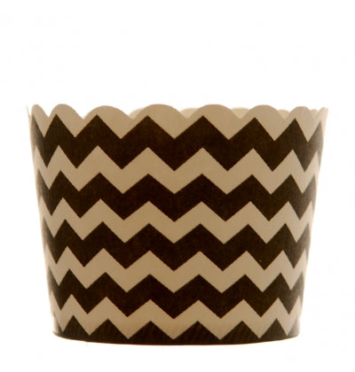 Black Chevron Cupcake Holders - Must Love Party